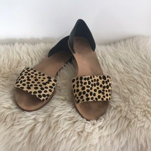Loeffler  Randall size 10 cheetah hair sandals